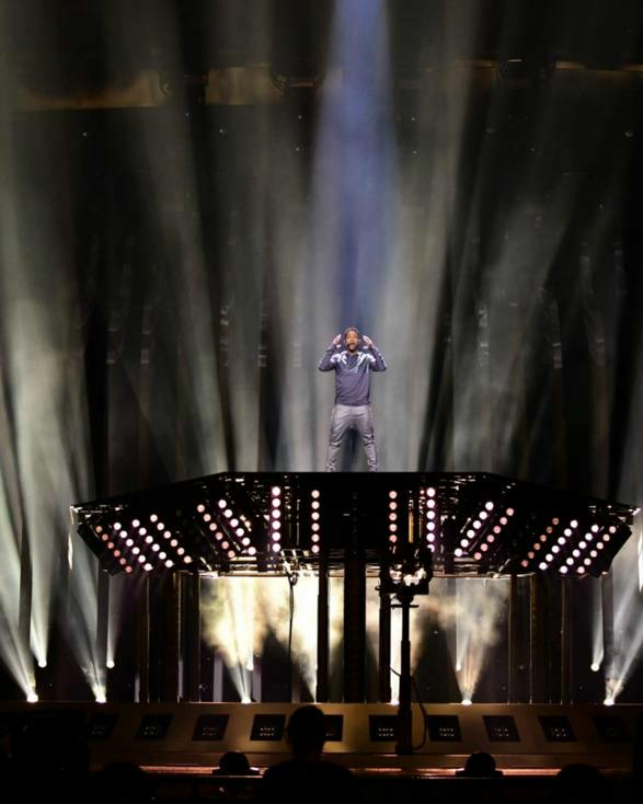 WICREATIONS stage elevators lift performances at Eurovision