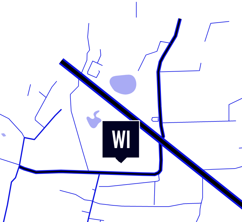 Map showing the location of WIcreations