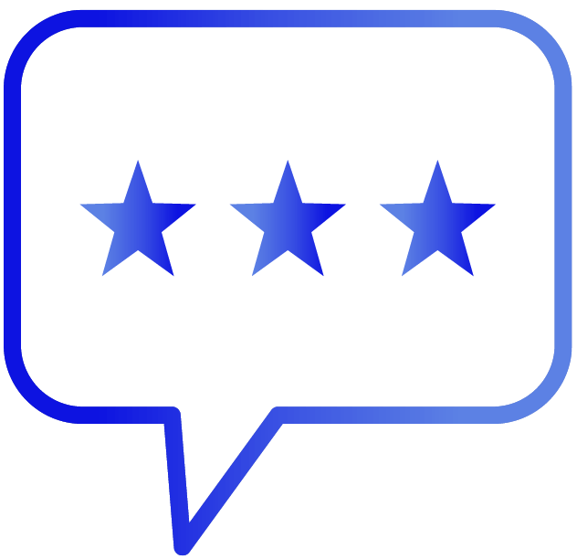 Speech bubble with rating icon